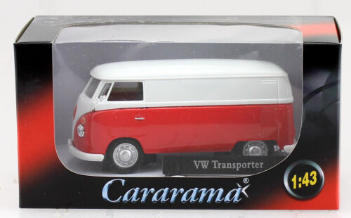 VW T1 Transporter rot weiß 1:43 Cararama Modellauto