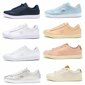 91098401def19e Lacoste Carnaby EVO 117 3 SPW Leather Women Trainers in Grey   Pink ...