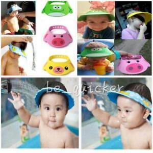 41d3c0d87cb Image is loading Adjustable-Baby-Cartoon-Shower-Cap-Children-Shampoo-Bath-