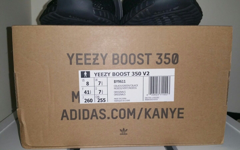 Adidas yeezy erhöhen niedrige sply 350 v2 schwarz olivgrün by9611 von kanye west