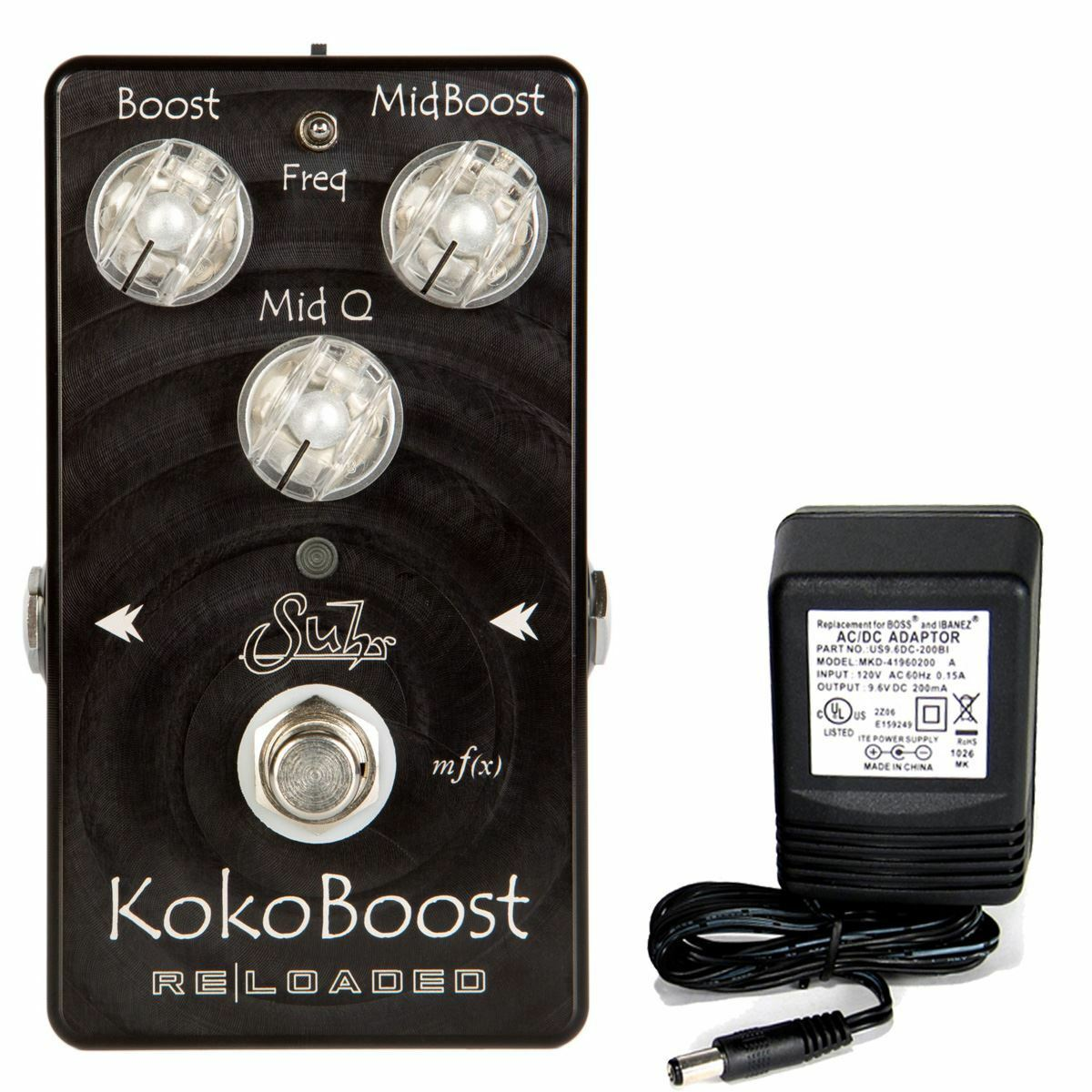 Suhr Koko Boost Reloaded pedal w/ 9v power supply