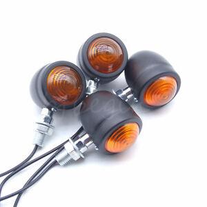 Two-paires-Ambre-Lampe-Signal-Feu-Clignotant-Indicateur-Bullet-Pour-Harley-Moto
