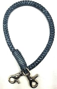 Biker-chain-grey-braided-leather-Gray-Heavy-Duty-Trucker-wallets-made-in-USA