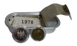 Geschenk zum 41. Geburtstag 2 Münzen von 1978 DDR, BRD. NOSTALGIE von WallaBundu