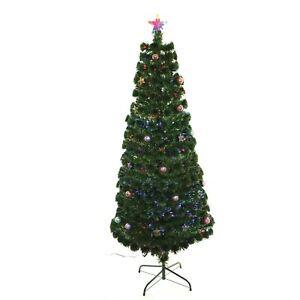 ef38e659766f3 5ft 150cm LED Fibre Optic Christmas Tree Pre Lit Stars And LED