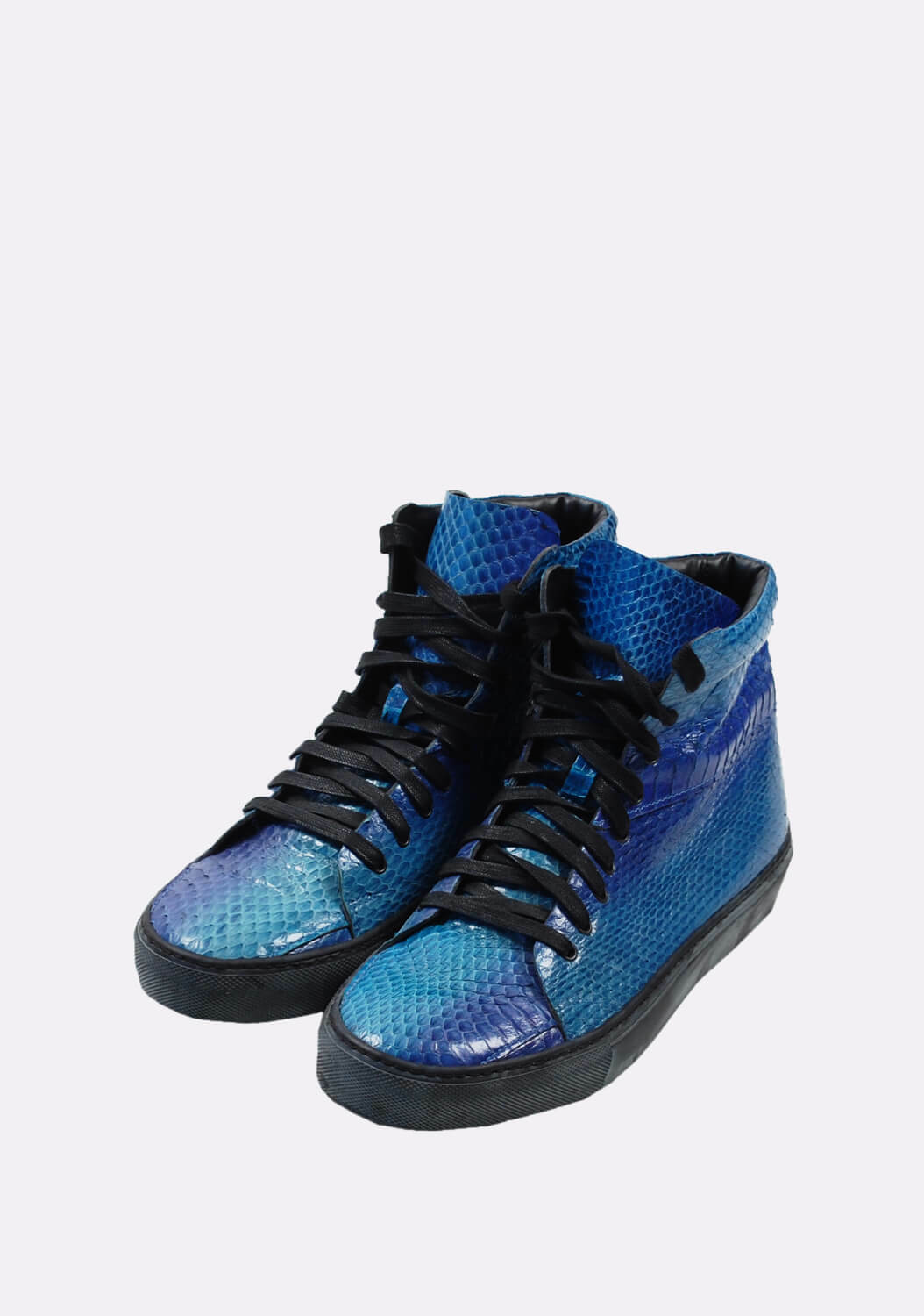 Original Acne Studios bluee Men Leather High Ankle Fasion Sneakers shoes size 40