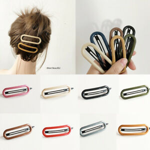 Womens Girls Hair Clips Barrette Slide Grips Hairpins 10Pcs//set Geometric Metal