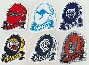1970-80s-ORIGINAL-AFL-TEAM-STICKERS-3-IN-THE-SET-Shield-Team-Dinki