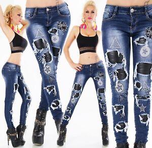 Original-Pantalones-Vaqueros-de-Mujer-Stretch-Pantalon-Pitillo-Piel-Sintetica