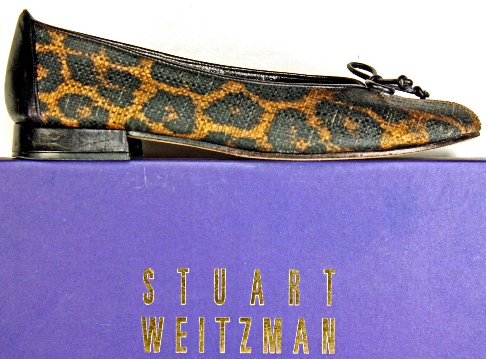 Stuart Weitzman Ballet Flats Größe 9 N Leopard Crosshatched Crosshatched Crosshatched Stitching Schuhes WH30 9e7842