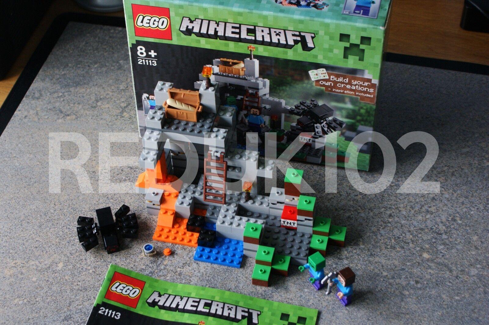 Lego Minecraft La Grougete Set 21113 100% complet  boîte Instructions incluses