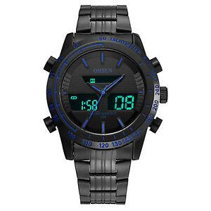 OHSEN-Mens-Sport-Black-Steel-Analog-Digital-Alarm-Date-Day-Military-Quartz-Watch