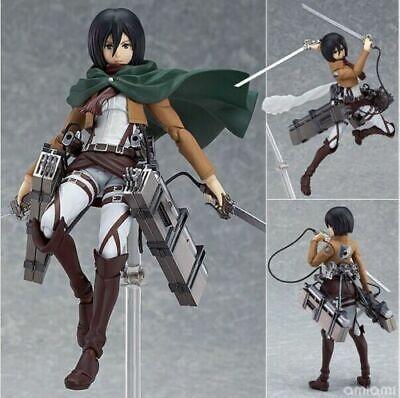 Anime Attack On Titan Mikasa Ackerman Figma 203 PVC Figure New No Box 15cm