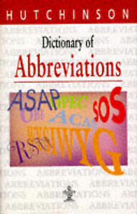 034-VERY-GOOD-034-Dictionary-of-Abbreviations-Hutchinson-dictionaries-Unnamed-Book