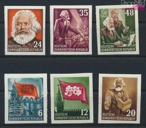 DDR-386B-391B-Blockeinzelmarken-ungezaehnt-postfrisch-1953-Karl-Marx-9051602