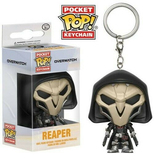 Pocket KEYCHAIN PORTACHIAVI Overwatch Reaper PERSONAGGIO IN VINILE Funko Pop