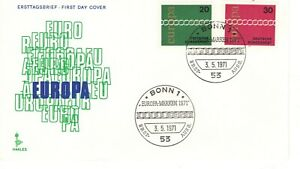 1971-GERMAN-COMMEMORATIVE-EUROPA-CEPT-OFFICIAL-CACHET-UNADDRESSED-FDC