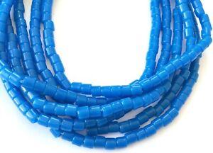 146-Fine-Vintage-Czech-Bohemian-Glass-Blue-African-Trade-beads
