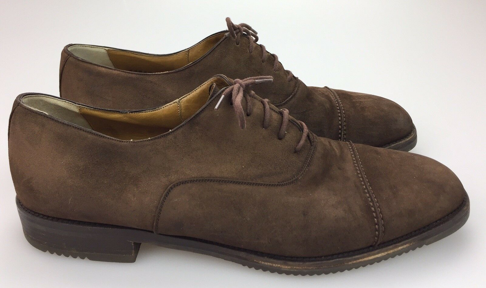 Cole Haan Oxford Cap Toe Brown Suede Leather Lace Up shoes  Mens Size 10 D