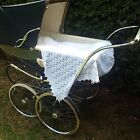 Baby Shawl - 100% Cotton - Fine Frame Knitted in Nottingham England
