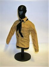 DID 1/6th Scale WW2 German Tan Shirt & Black Scarf - Dan