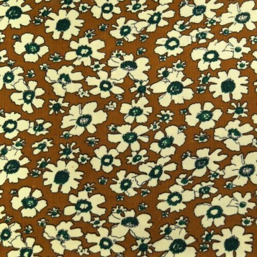 Tela pana de algodón 100/% flores floral de estilo vintage y retro