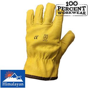 10 Size Himalayan H310-10 Premium Drivers Glove Yellow Pack of 10