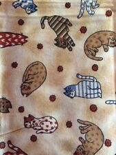 """100% Cotton Fabric  with Calico Cat Print 27"""" x 36"""" L."""