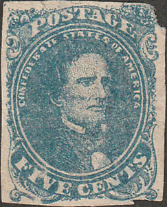 Confederate #4 Five Cent Stamp