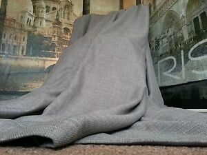 New-Huge-Bespoke-Linen-Slate-Grey-EP76-034-W113-034-L-Blackout-Thermal-Lined-Curtains