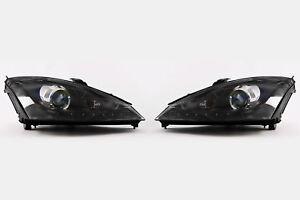 Ford-Focus-MK1-01-04-LED-Daytime-Running-Light-Black-Projector-Headlights-Set