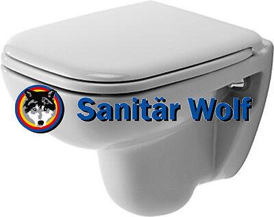 WC Sitz weiss Lotusclean Beschichtung Duravit D-Code Wand WC