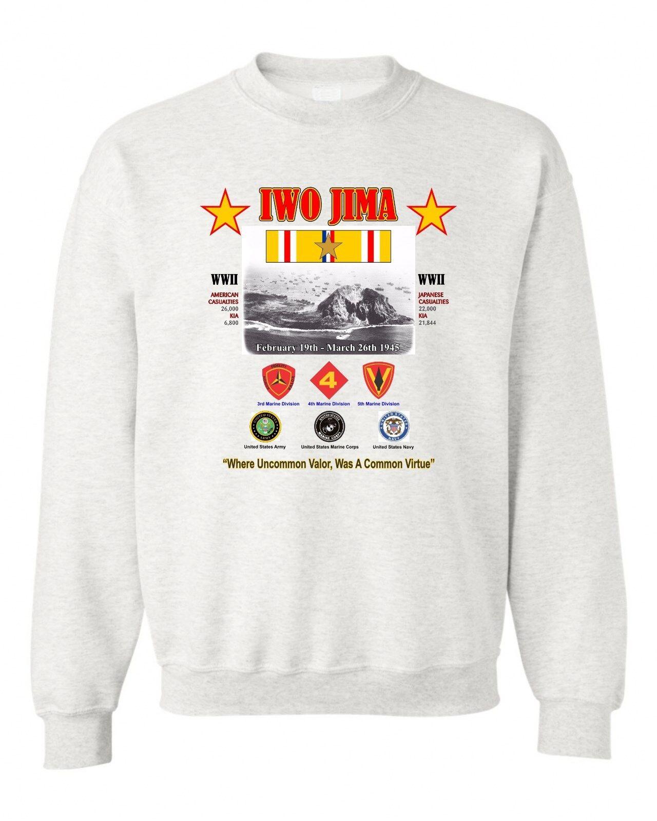 IWO JIMA BATTLE WW II UNIT & OPERATION MILITARY CAMPAIGN & BATTLE SWEATSHIRT