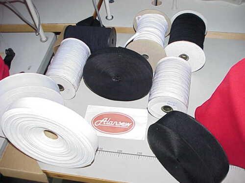 Black White Stretch Flat Elastic Waist Band Woven Sewing Trouser Dressmaking UK