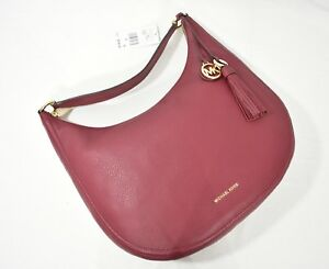 a802f70615d7 Image is loading NWT-Michael-Kors-Lydia-Large-Leather-Hobo-Bag-