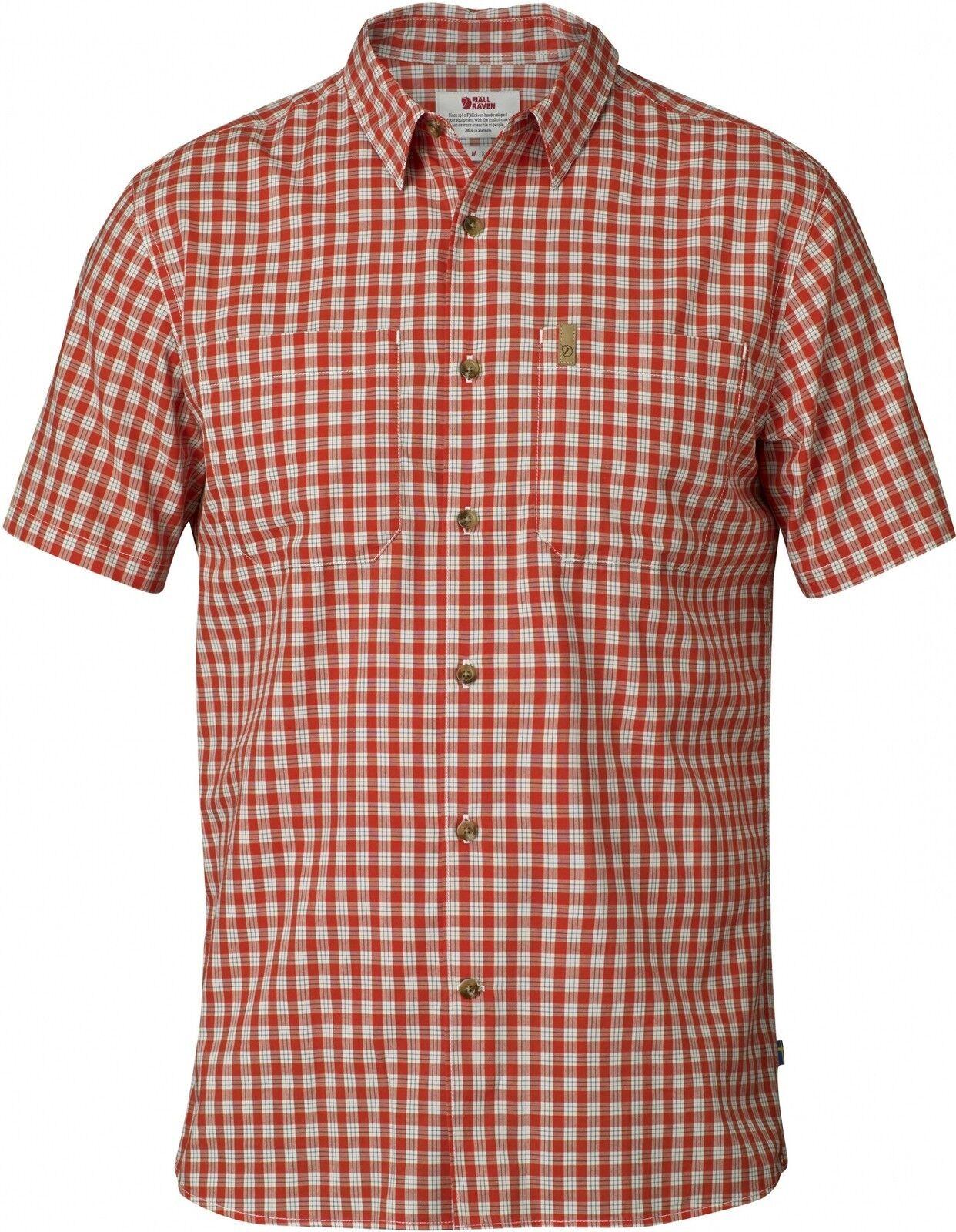 Fjäll Räven High Coast Shirt Funktionshemd SS, Kurzarm-Herrenhemd, flame Orange, Funktionshemd Shirt 3b0224
