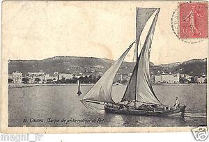 06-CPA-Cannes-Boot-Fischer-Einfahrend-Zur-Hafen-H9158