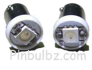 "Pinball LED bulbs 100pcs BLUE #44//47 /""Super Bright Quad/"" 4LED 6.3v bayonet 4smd"