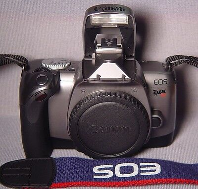 CANON EOS Rebel T2 35mm Film Camera Body+Body Cap&Canon Strap