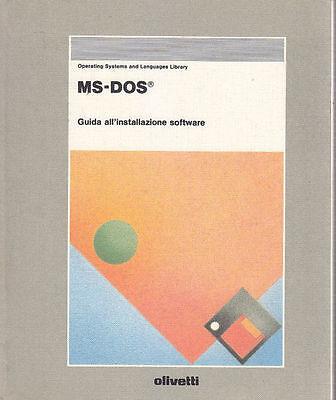 Originale Ms - Dos Guida Alla Installazione Software Di Aa.vv. - 1989 Olivetti