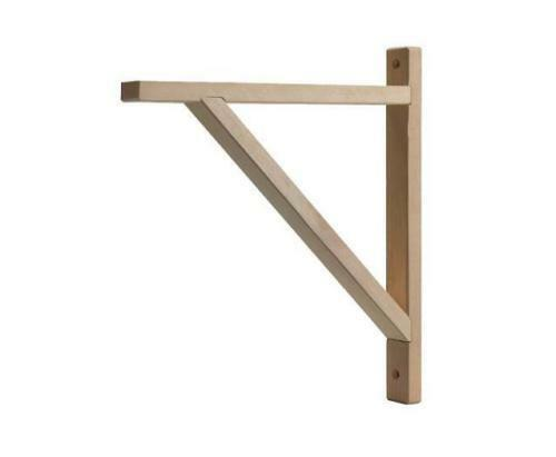 IKEA EKBY VALTER 28 cm Home Office Wall Shelf Bracket Solid Birch Wood  UK-B786