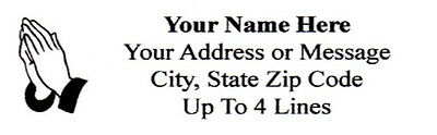 "1/"" x 2.625/"" 30 pcs Personalized Praying Hands Return//Mailing Address labels"
