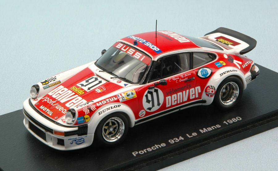 Porsche 934  91 Retirosso Lm 1980 C. Bussi/ B. Salam / C. Grandet 1:43 Model