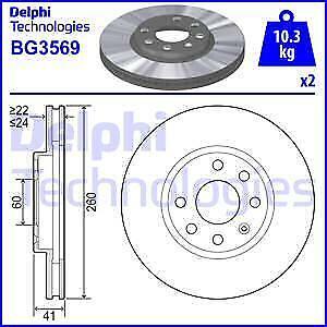 DELPHI Disco de freno BG3569 DF4165-DISCO  OPEL CORSA DTI 00-> (2)