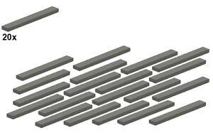 Used-LEGO-Smooth-Parts-Darkbluishgray-4162-09-1x8-20Stk-Fliese-Du
