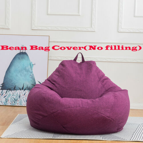Modern Decor Indoor Cover Bean Bag Chair Couch Sofa Lazy Lounger Cover 8 Color