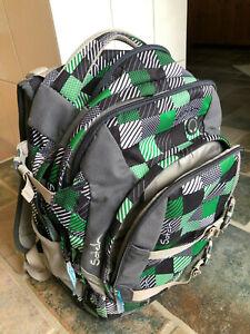 Satch Pack Schulrucksack grau/grün/schw