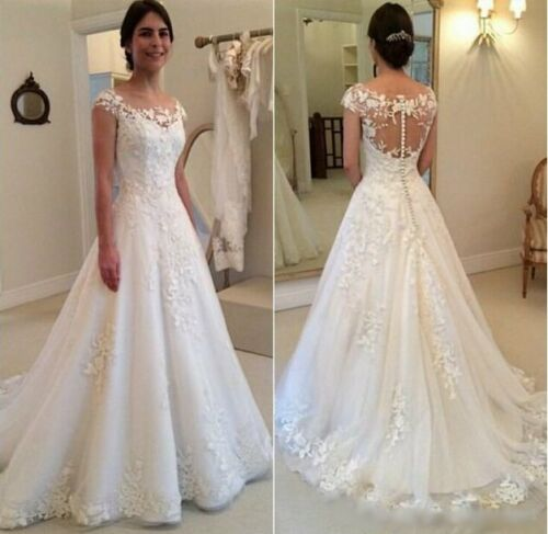 Spitze Brautkleid Hochzeitskleid Kleid Braut Babycat collection ivory BC605C 38