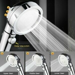 3In1 High Pressure Showerhead Handheld Shower Head with ON//Off//Pause 3 Setting 1