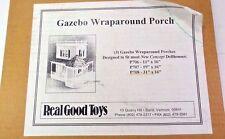 Dollhouse Miniature Gazebo Wraparound Porch KIT